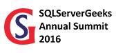 SQLServerGeeks Annual Summit 2016